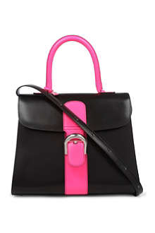 DELVAUX Brilliant box calf leather tote