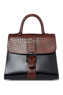 DELVAUX Brillant alligator-trimmed extra large tote