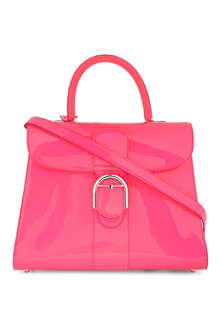 DELVAUX Brilliant large box calf leather tote