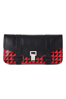 PROENZA SCHOULER PS1 chevron-print leather clutch