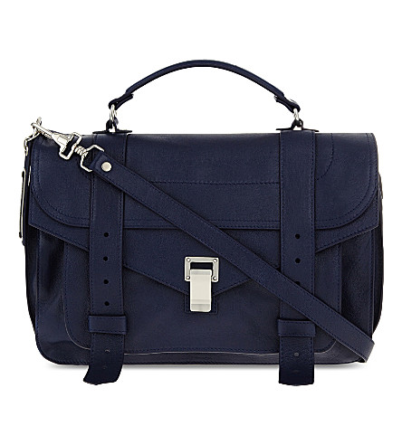 PROENZA SCHOULER PS1 medium leather satchel (Indigo