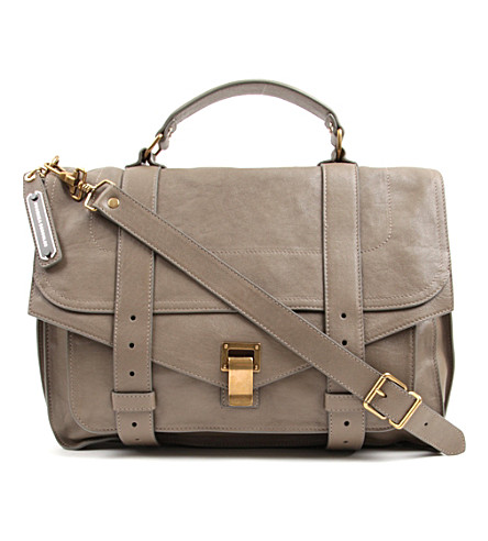 PROENZA SCHOULER PS1 large leather satchel (Smoke