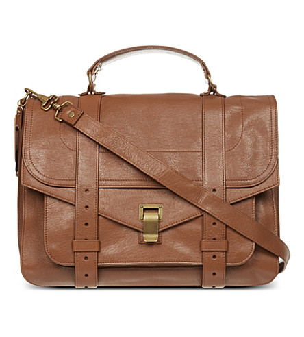 PROENZA SCHOULER PS1 large leather satchel (Saddle