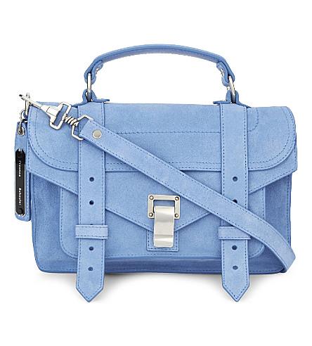 PROENZA SCHOULER Ps1 tiny suede satchel (Slate blue