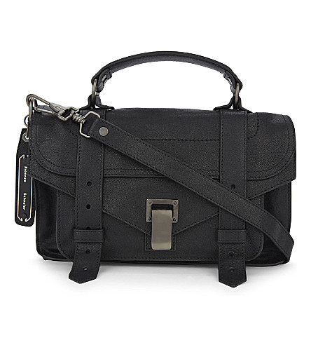 PROENZA SCHOULER PS1 tiny leather satchel (Black