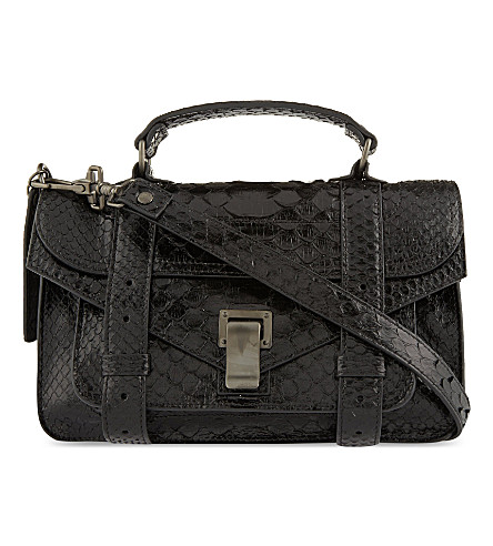 PROENZA SCHOULER PS1 tiny python satchel (Black