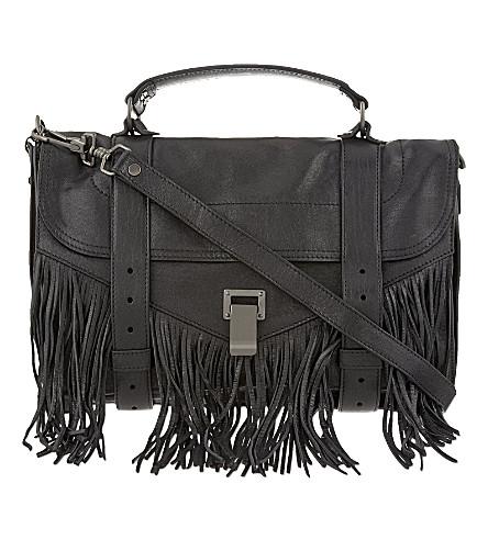 PROENZA SCHOULER Fringe leather satchel (Black