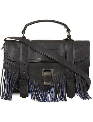 PROENZA SCHOULER PS1 tiny fringed satchel