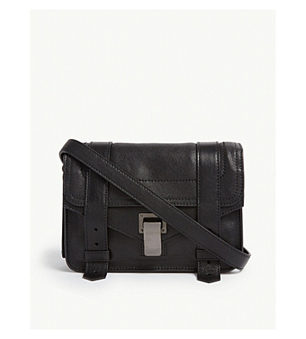 PROENZA SCHOULER PS1 mini leather cross-body bag (Black