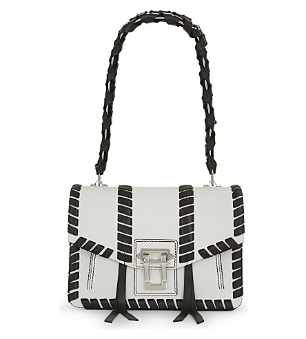 PROENZA SCHOULER Hava chain leather shoulder bag (Black+white