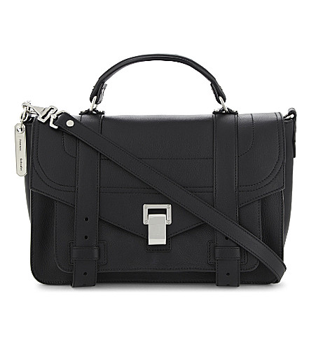 PROENZA SCHOULER PS1 medium grained leather satchel (Black