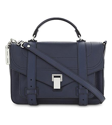 PROENZA SCHOULER PS1 medium grained leather satchel (Indigo