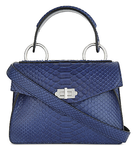 PROENZA SCHOULER Small Hava python-embossed leathe shoulder bag (Indigo