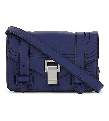 PROENZA SCHOULER PS1 Plus mini leather cross-body bag (Lapis