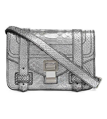 PROENZA SCHOULER PS1 mini leather cross-body bag (Silver