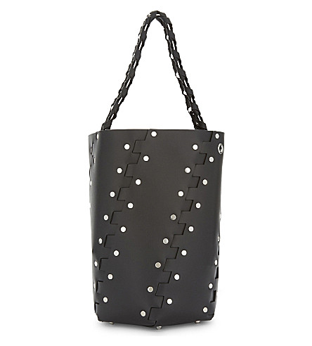 PROENZA SCHOULER Hexagonal studded shoulder bag (Black
