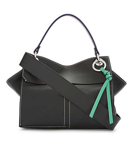 PROENZA SCHOULER Curl leather shoulder bag (Black+white