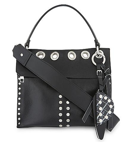 PROENZA SCHOULER Curl studded leather shoulder bag (Black