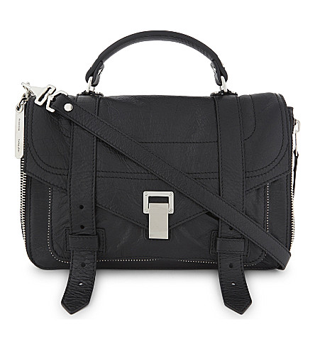 PROENZA SCHOULER PS1+ medium leather satchel (Black