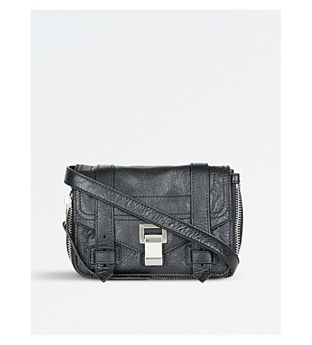 PROENZA SCHOULER PS1+ small leather shoulder bag (Black