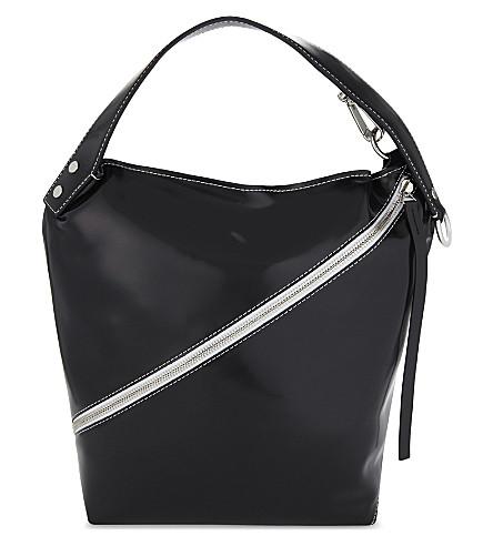 PROENZA SCHOULER Medium patent leather hobo (Black
