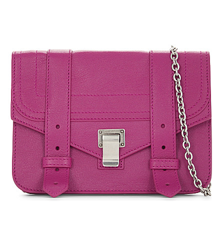PROENZA SCHOULER PS1 leather wallet on chain (Peony