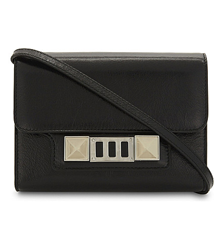 PROENZA SCHOULER PS11 leather wallet-on-chain (Black
