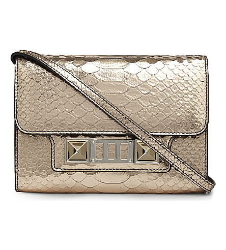 PROENZA SCHOULER PS11 mini leather cross-body bag (Rose+gold