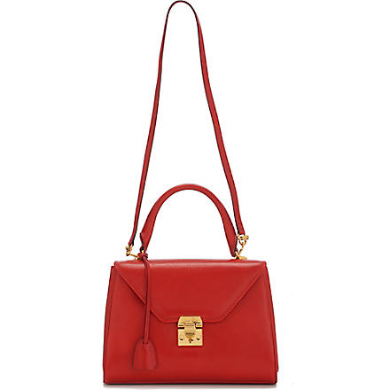 MARK CROSS Scottie small leather satchel (Red