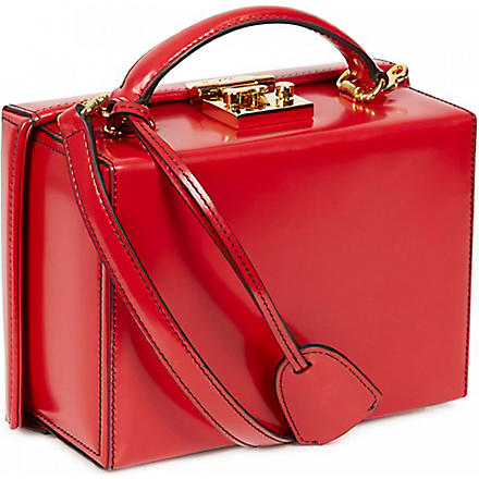 MARK CROSS Grace small leather box bag (Red
