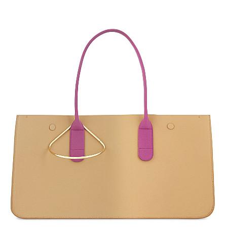 ROKSANDA Louise grained leather tote bag (Tan+peach