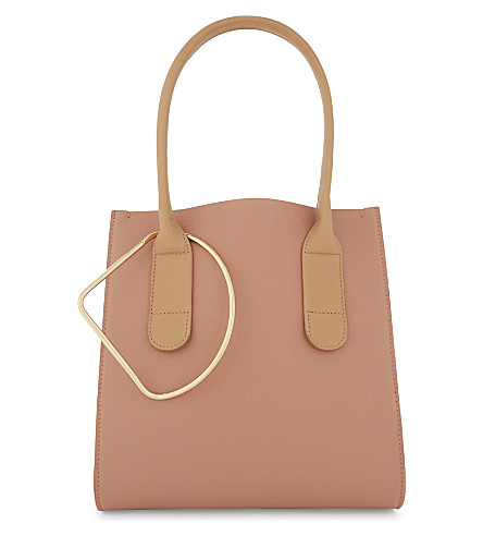 ROKSANDA Mini weekend bag (Peach+white