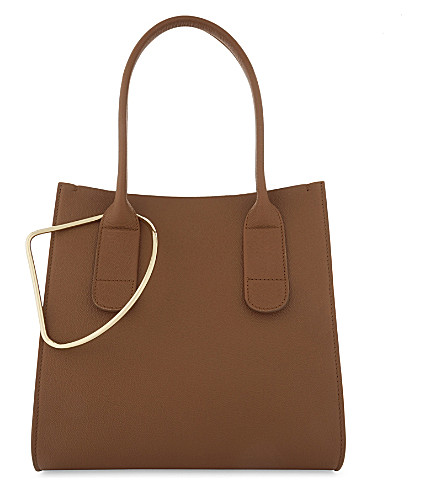 ROKSANDA Mini grained leather weekend tote (Tobacco+burgundy