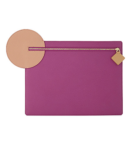ROKSANDA Aplin leather pouch (Hot+pink