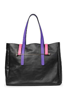 RUPERT SANDERSON Tri-coloured leather tote