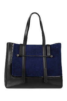 RUPERT SANDERSON Two-toned leather and suede tote