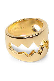 EDDIE BORGO Bear Trap gold-plated ring