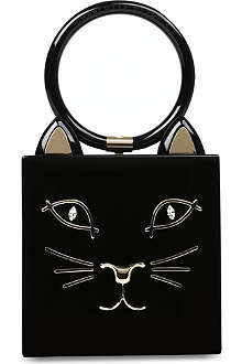 CHARLOTTE OLYMPIA Kitty face box clutch