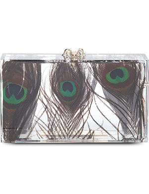 CHARLOTTE OLYMPIA Peacock Perspex pandora clutch