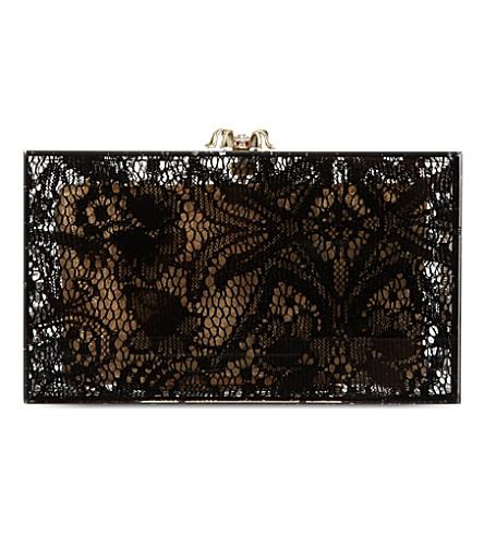 CHARLOTTE OLYMPIA Pandora lace clutch (Black/multi