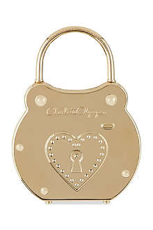 CHARLOTTE OLYMPIA Padlock perspex clutch