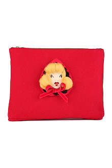 CHARLOTTE OLYMPIA Red Riding Hood felt pouch