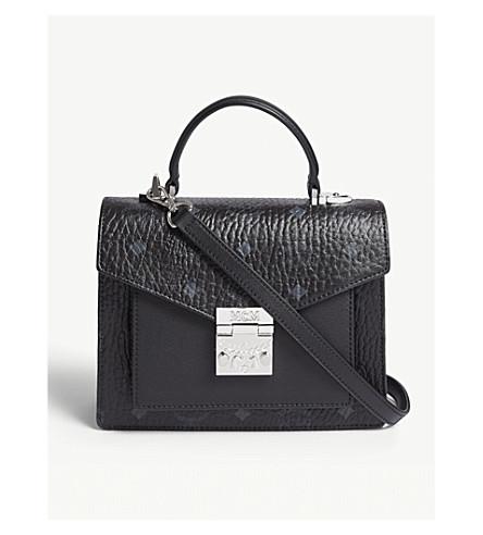 MCM Patricia Classic Visetos coated canvas satchel (Black