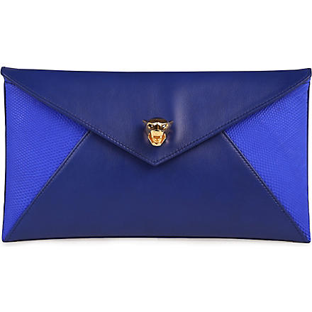 STARK Lizard envelope clutch (Blue