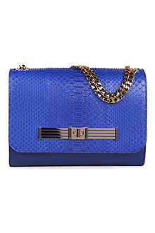 STARK Serena python shoulder bag