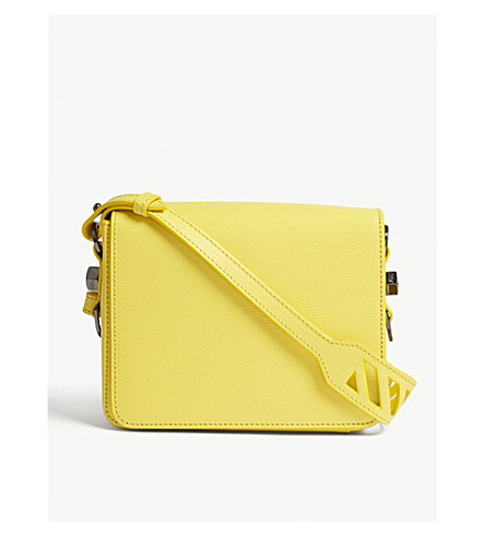 OFF-WHITE C/O VIRGIL ABLOH Grained leather cross-body bag (Yellow