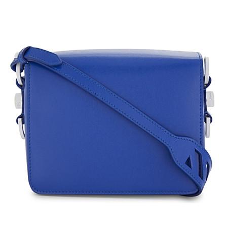 OFF-WHITE C/O VIRGIL ABLOH Smooth leather shoulder bag (Blue