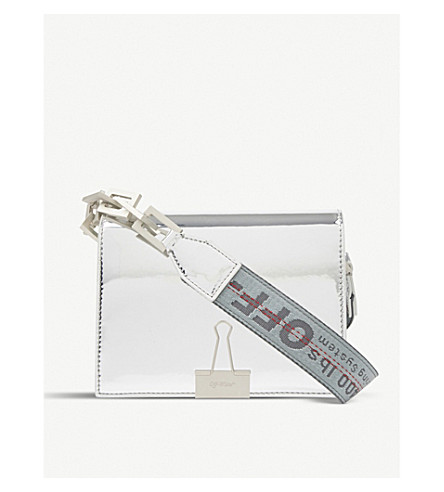 OFF-WHITE C/O VIRGIL ABLOH Mirrored leather shoulder bag (Mirror+silver