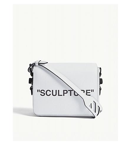 OFF-WHITE C/O VIRGIL ABLOH Sculpture leather shoulder bag (White+blk