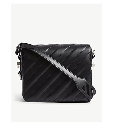 OFF-WHITE C/O VIRGIL ABLOH Quilted leather shoulder bag (Black